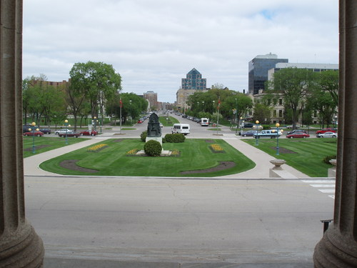 view from steps of the Legislature